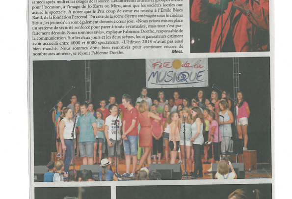Articles de presse : Fête de la Musique 2015